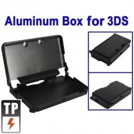 Aluminium Bescherm-Cover Skin voor Nintendo 3DS Zwart