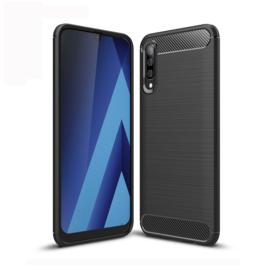 TPU Flex Bescherm-Hoes  voor Galaxy A70     Zwart