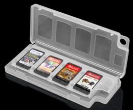 Spel Opberg-Box voor 8 Nintendo Switch + 2 SD Cards    Wit