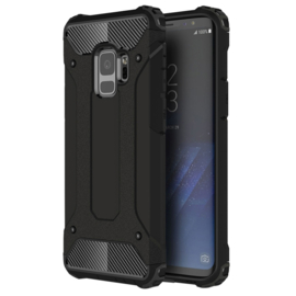 Samsung Galaxy S9 - Hybrid Tough Armor-Case Bescherm-Cover Hoes - Zwart