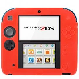 Silicone Bescherm Hoes voor Nintendo 2DS  Rood