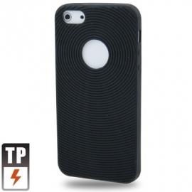 Silicone Bescherm-Hoes Skin Sleeve voor iPhone 5 - 5S Zwart *