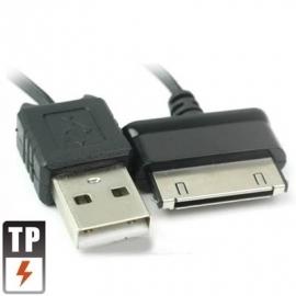USB 2.0 Laad-Data Kabel voor Samsung Galaxy Tab  200cm Zwart