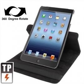 360º PU Bescherm-Cover Hoes Etui voor iPad Mini Zwart