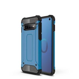 Samsung Galaxy S10 - Hybrid  Armor-Case Bescherm-Cover Hoes - Blauw
