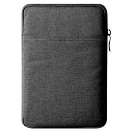 Bescherm-Opberg Hoes Etui Pouch Sleeve voor iPad 10.2 - iPad Air 9.7   Antraciet