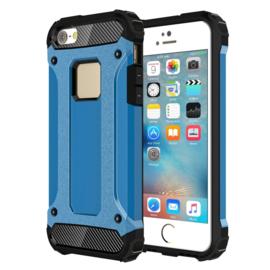 iPhone SE  - Super Sterke Armor-Case Bescherm-Cover Hoes Blauw