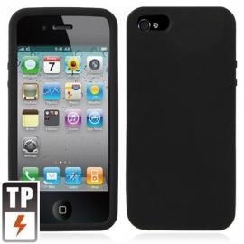 Silicone Bescherm-Hoes Skin Sleeve voor iPhone 5 - 5S Zwart