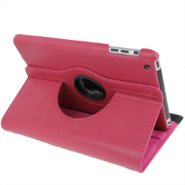 360º Standaard Bescherm Hoes Map voor iPad Mini 4   Roze