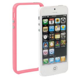 Bescherm-Bumper voor iPhone 5 - 5S - SE  -   Magenta Roze