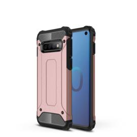 Samsung Galaxy S10 - Hybrid  Armor-Case Bescherm-Cover Hoes - Roze