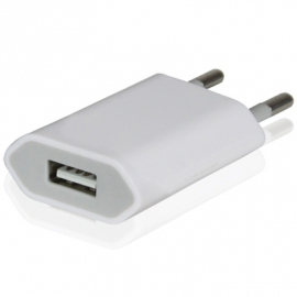 220v USB Oplader-Adapter voor iPod Nano  Wit