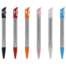 6x Inschuifbare Metalen Stylus Pen voor Nintendo 2DS XL