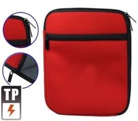 Bescherm-Opberg Hoes Etui Pouch voor iPad - iPad Air   Rood