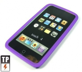 Silicone Bescherm-Hoes voor iPod Touch 4 4G Paars