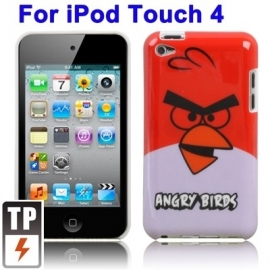 Bescherm-Cover Case voor iPod Touch 4 4G   Angry Birds Rood