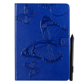 """Luxe Bescherm-Etui Map voor iPad 10.2 - iPad Air 10.5  - """"Vlinder""""  Blauw"""