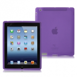 Silicone Bescherm-Hoes Skin voor Apple iPad 2 - 3 - 4   Lila-Paars