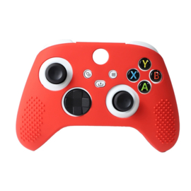 Silicone Hoes / Skin voor XBOX Series X -  S Controller  Rood