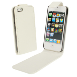 PU Flip Case Bescherm-Etui Hoes voor iPhone SE -  Wit