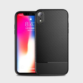 Slim Carbon Bescherm-Hoes Skin  voor iPhone XR     Zwart