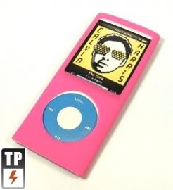 Silicone Bescherm-Hoes Skin voor  iPod Nano 4G 4   Roze