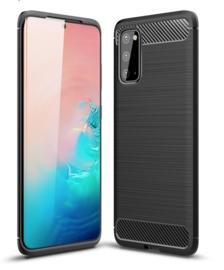 Samsung Galaxy S20 - Carbon TPU Bescherm-Hoes Skin - Zwart