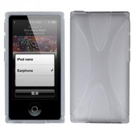 TPU Flex Bescherm-Cover Hoes Skin Hoesje voor iPod Nano 7 7G Grijs