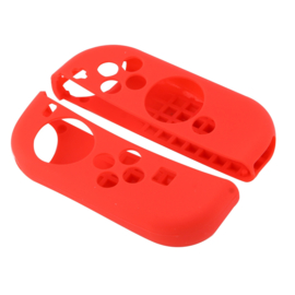 Silicone Hoes / Skin voor Nintendo Switch Controller   Rood