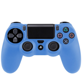 Silicone Hoes / Skin voor Playstation 4 PS4 Controller    Blauw
