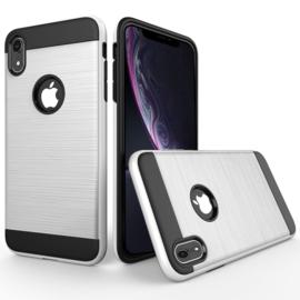 Aluminium-Cover Bescherm-Hoes  voor iPhone XR    Zilver