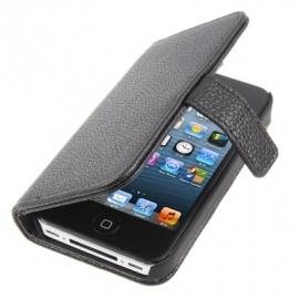 PU Boek Case - Bescherm-Etui Case voor iPhone 4 en 4S