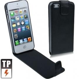 PU Flip Case Bescherm-Etui Hoes voor iPhone 5 - 5S Zwart