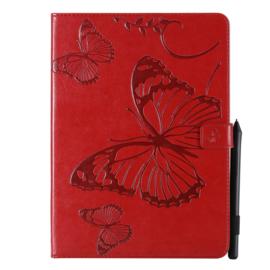 """Bescherm-Opberg Hoes Map voor iPad Pro 11  -  """"Vlinders"""" Rood A2228"""