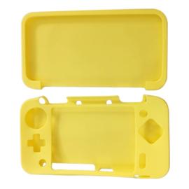 Silicone Bescherm Hoes voor Nintendo 2DS XL Geel