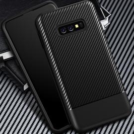 Samsung Galaxy S10e - Carbon TPU Bescherm-Hoes Skin - Zwart