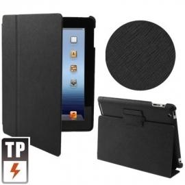 Slim Bescherm-Opberg Hoes Etui Map voor iPad 2 - 3 - 4  Zwart-Groeven