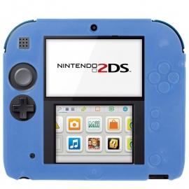 Silicone Bescherm Hoes voor Nintendo 2DS   Blauw