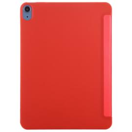 TPU Bescherm-Cover Hoes Map voor iPad Air 4 10.9  -  Rood    A2316 A2072
