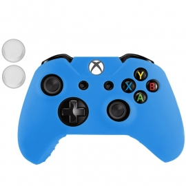 Silicone Hoes / Skin voor XBOX ONE Controller   Blauw
