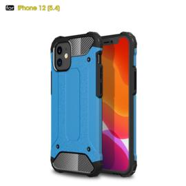 Sterke Armor-Case Bescherm-Cover Hoes voor iPhone 12 Mini -  Blauw