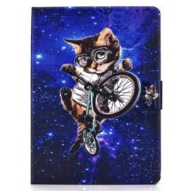 Bescherm Cover Hoes Map voor iPad Air 4  10.9 -   Cool Cat on Bike