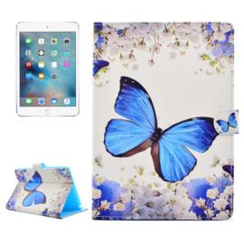 """Bescherm-Opberg Etui Map Hoes voor iPad Mini 4 - 5 -  """"Vlinder"""""""