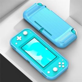 TPU Bescherm Hoes Skin voor Nintendo Switch Lite - Blauw-Carbon