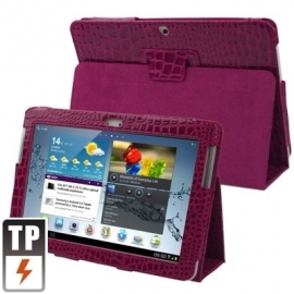 Bescherm-Etui Hoes Sleeve Map voor Samsung Galaxy Tab2 10.1  Paars-Glans
