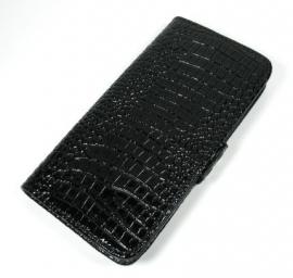 Slim Boek Case Bescherm-Etui Hoes voor iPhone SE Glans Zwart