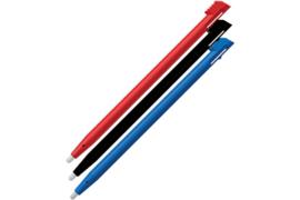 3x Stylus pen voor Nintendo 2DS -  Zwart - Rood - Blauw