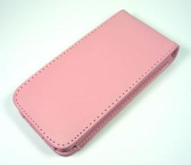 PU Flip Case / Bescherm-Etui Hoes Hoesje voor iPod Touch 4 4G Roze *
