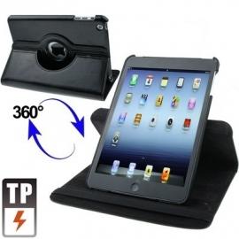 360º Bescherm-Cover Hoes Etui voor iPad Mini 1 - 2 - 3  Zwart