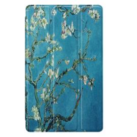 Bescherm-Cover Hoes Map voor Samsung Galaxy Tab A7 Lite 8.7  - Van Gogh Amandelbloesem